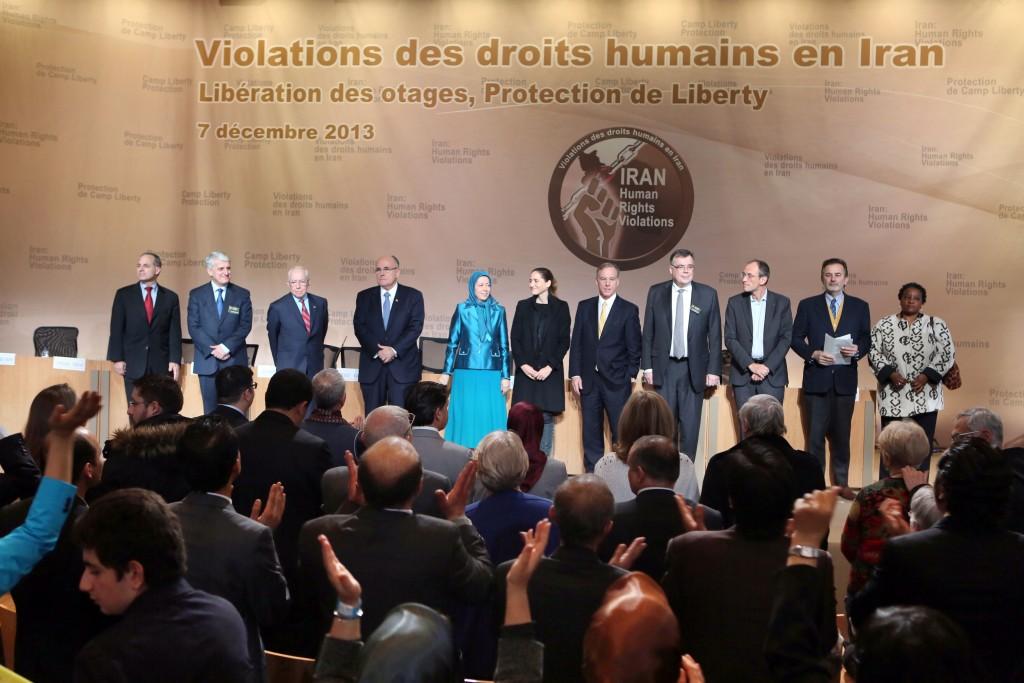كلمة مريم رجوي في المؤتمر الدولي في باريس عشية اليوم العالمي لحقوق الانسان