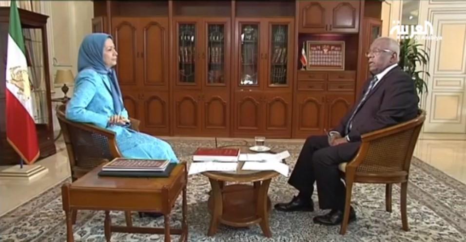 مقابلة قناة العربية مع مريم رجوي