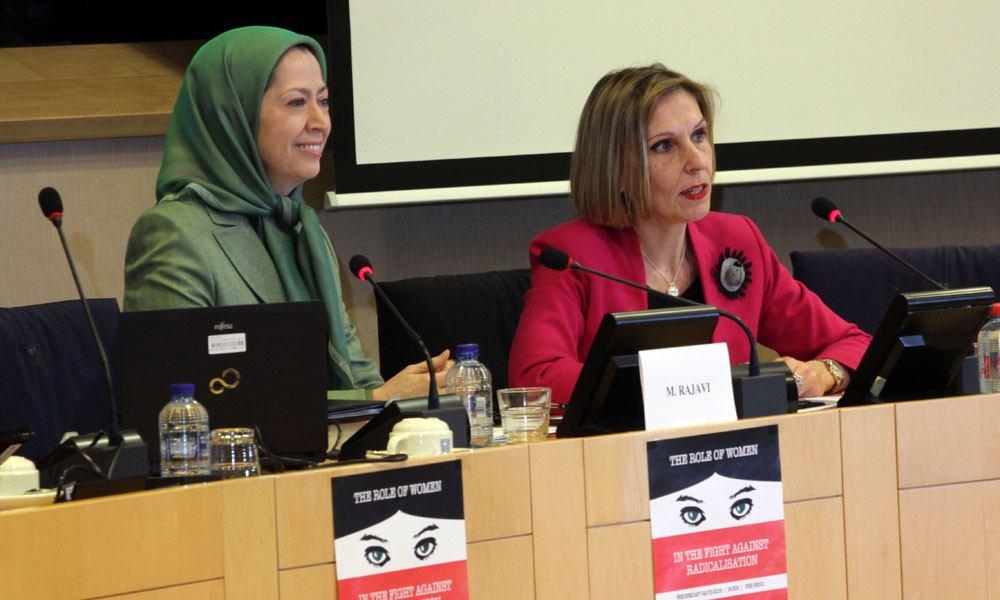 مريم رجوي في مؤتمر «دور المرأة في مواجهة التطرف» فی البرلمان الاروبی
