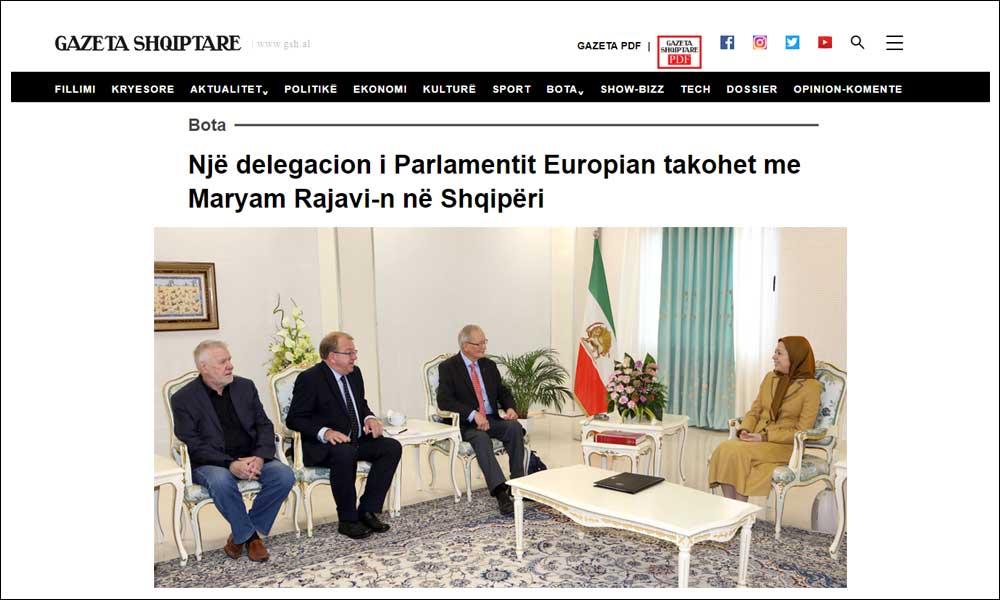 وفد من البرلمان الأوروبي يلتقي زعيمة مجاهدي خلق في تيرانا