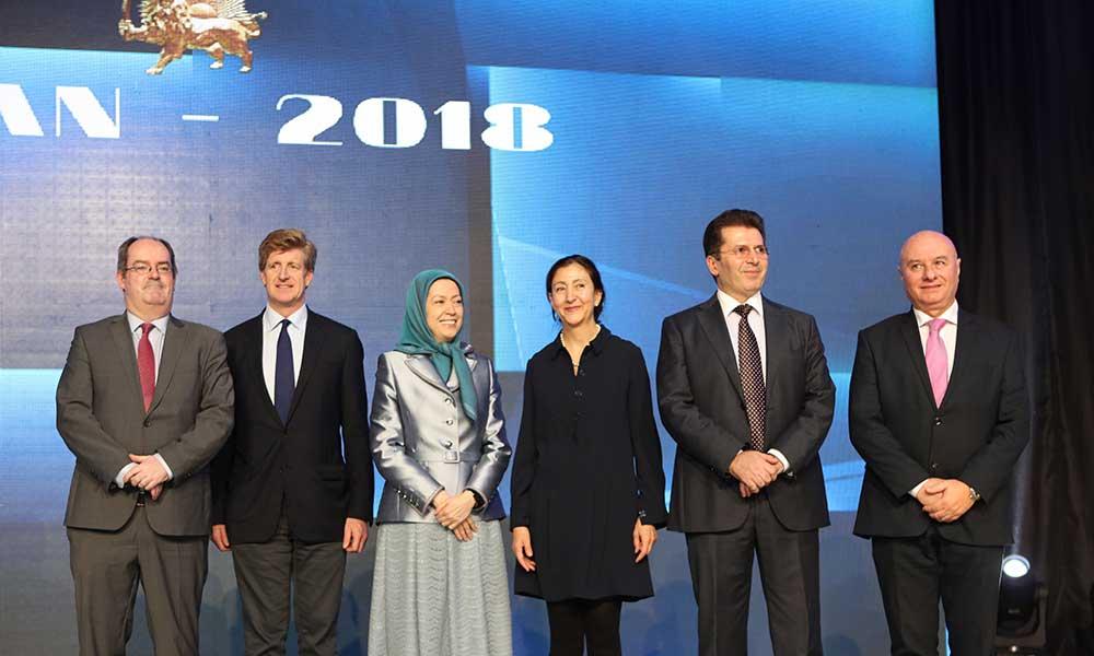 مؤتمر بالفيديو مشتركًا بين الجاليات الإيرانية في42 مدينة في أوروبا وأمريكا الشمالية وإستراليا