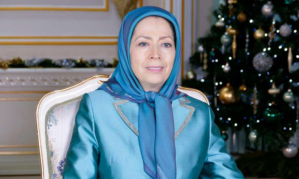 رسالة مريم رجوي بمناسبة ميلاد السيد المسيح وبداية العام 2019