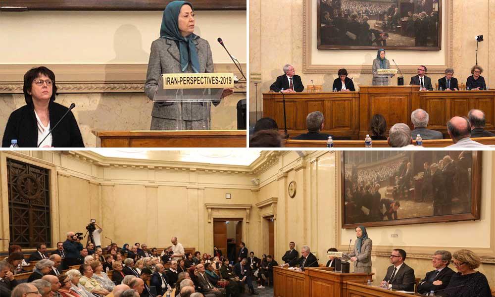 ندوة في الجمعية الوطنية الفرنسية كلمة مريم رجوي