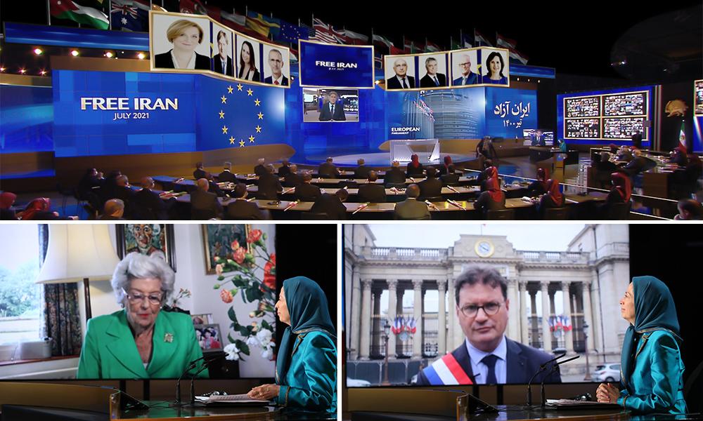 اليوم الثاني من المؤتمر السنوي العام للمقاومة الإيرانية لإيران الحرة لعام 2021: استراتيجية القنبلة والصاروخ والجلاد محكوم عليها بالفشل
