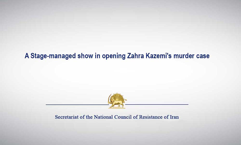 A Stage-managed show in opening Zahra Kazemi's murder case