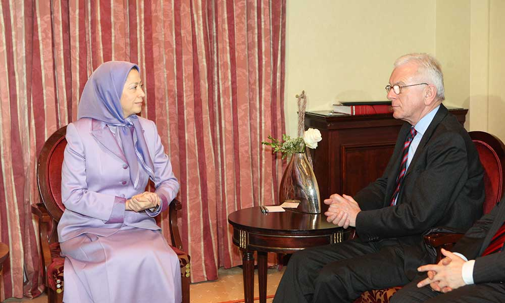 One of the leaders of the German Christian Democratic Party, met with Maryam Rajavi