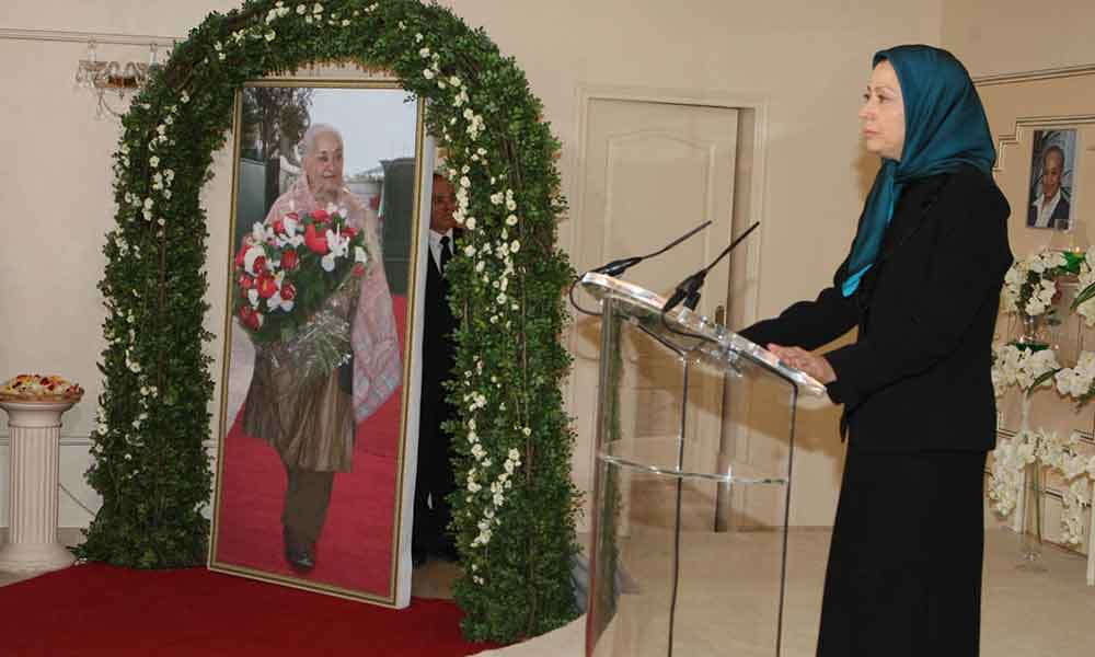 Mrs. Rajavi participated at the funeral of Marzieh