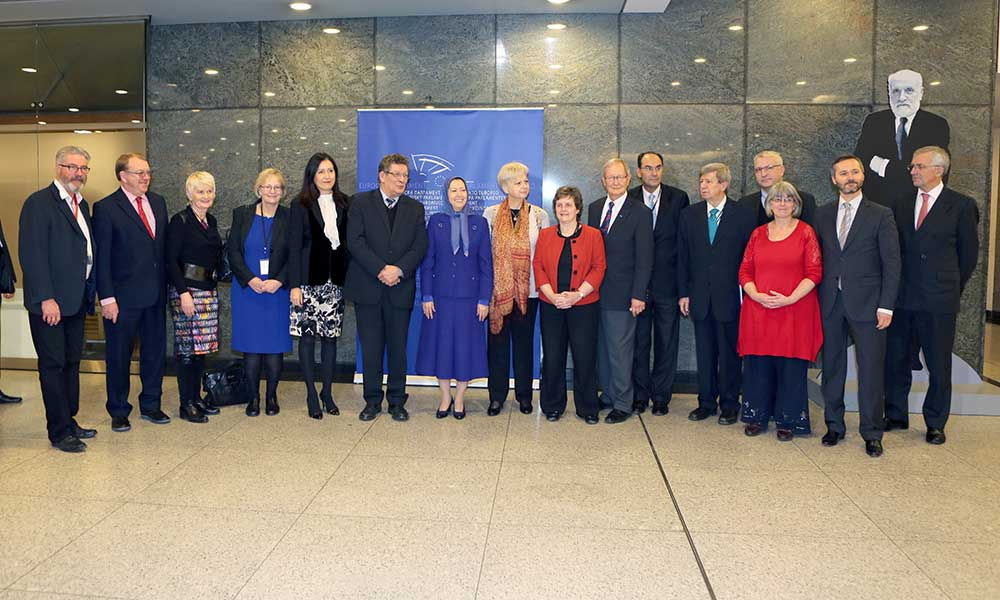 Maryam Rajavi in the European Parliament: On Human Rights Day, Iran has once again been covered in blood