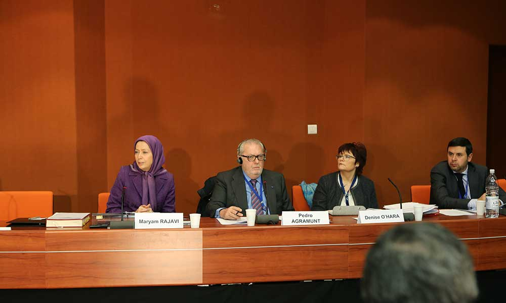 Maryam Rajavi Speaks at the official session of the European People's Party