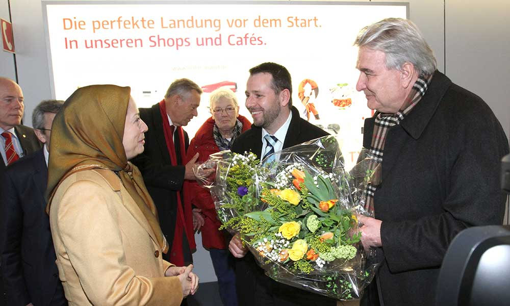 Mayram Rajavi arrives in Germany