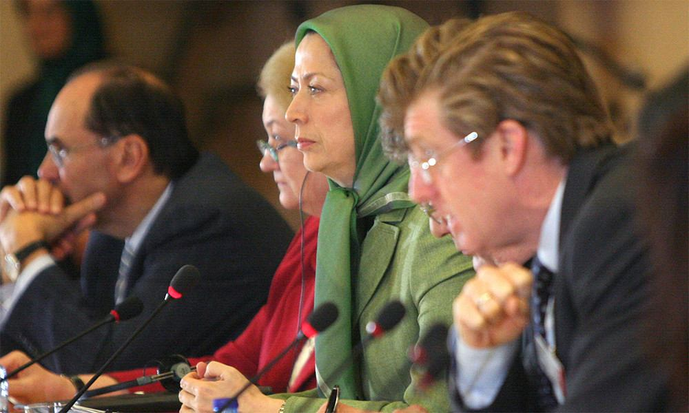 Maryam Rajavi at the european parliament on Iran's Nuclear Accord