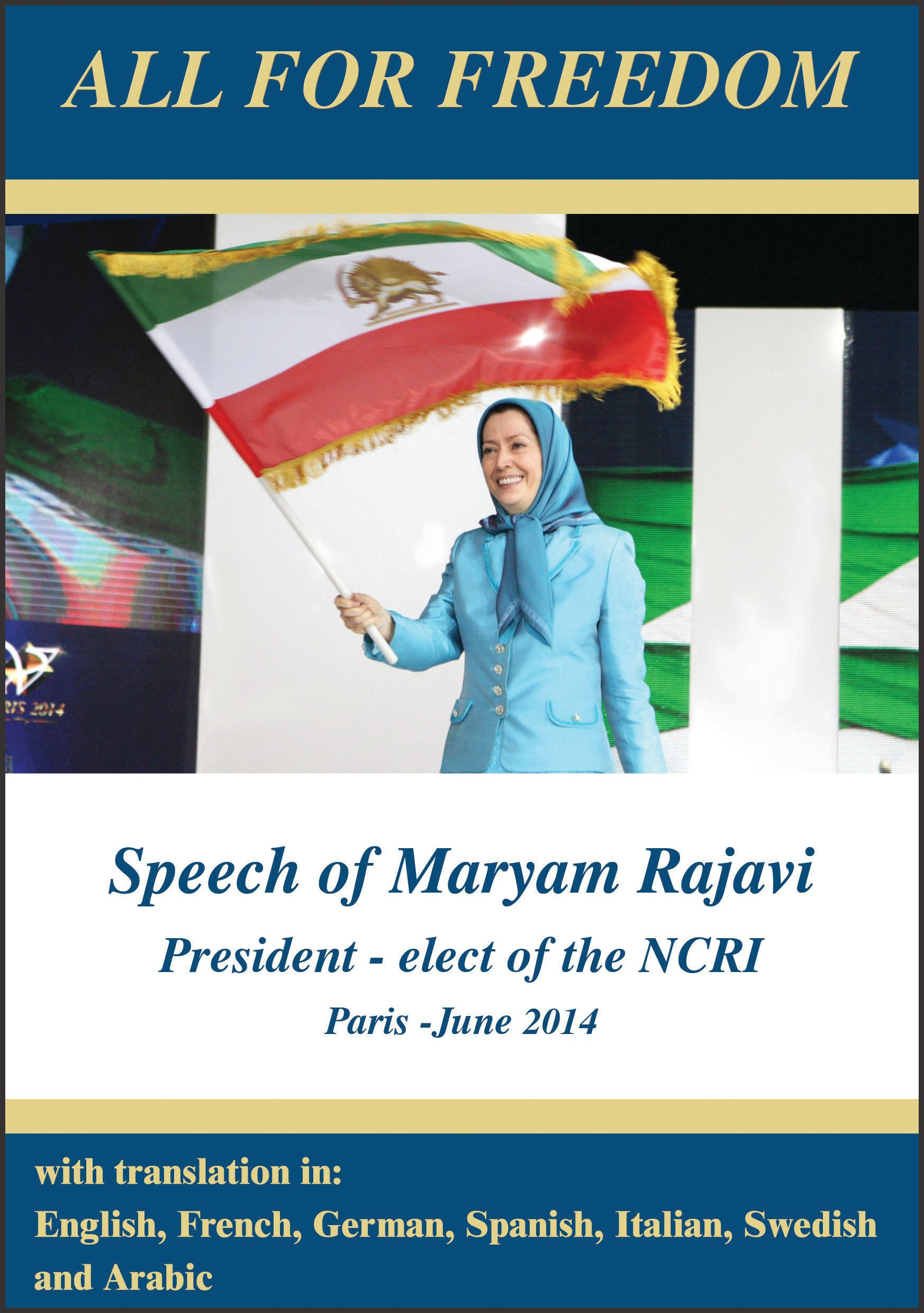 cover Maryam rajavi Grand Gathering All for freedom 1