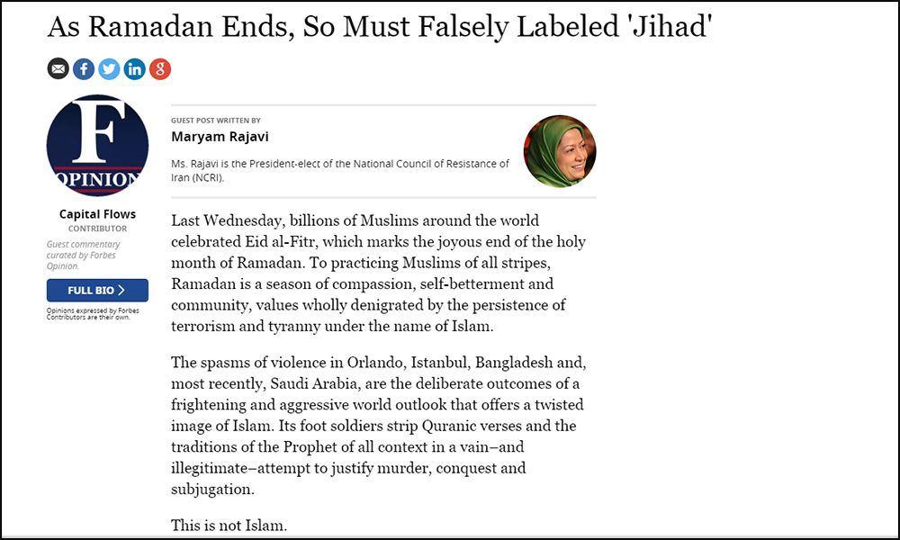 As Ramadan Ends, So Must Falsely Labeled 'Jihad'