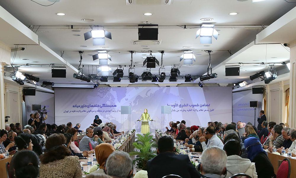 Maryam Rajavi calls on int'l community, regional countries to adopt firm policy to evict Iran from Middle East