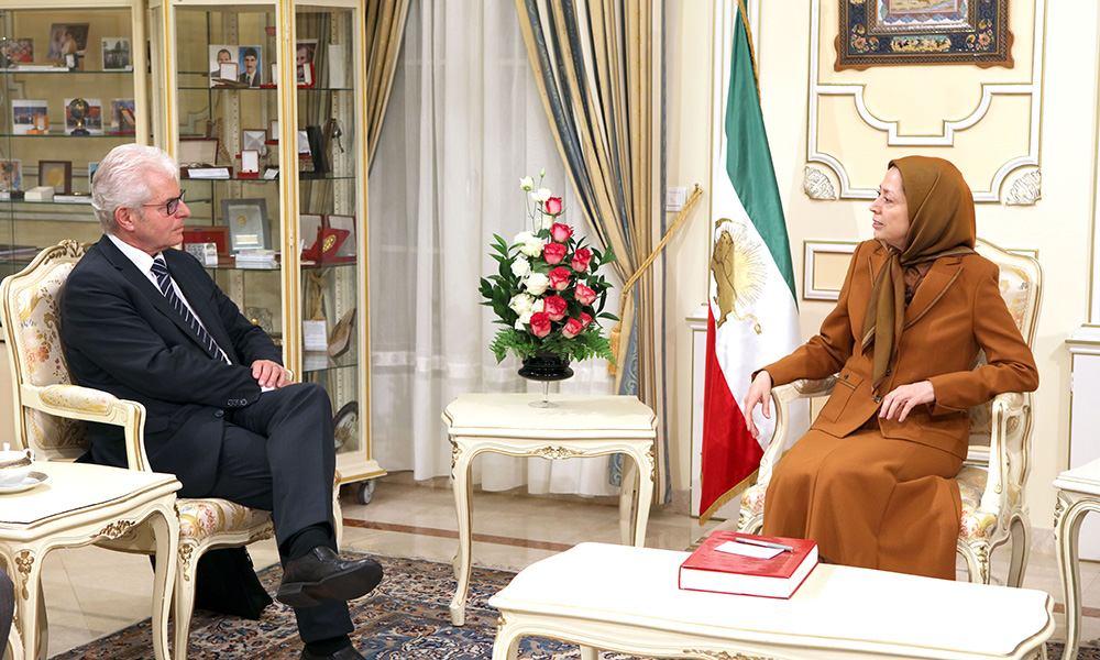 Maryam Rajavi meets Austrian MEP Heinz Becker