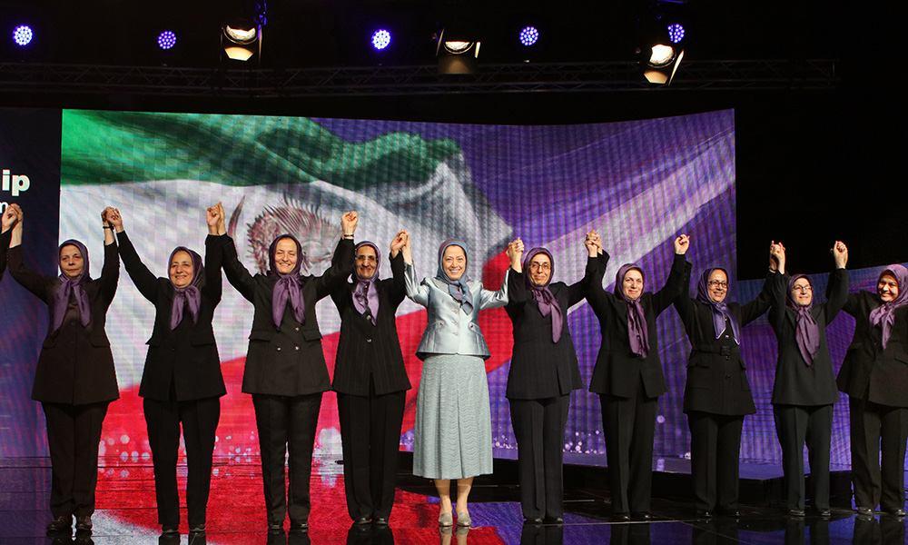 Maryam Rajavi pays tribute to the endurance of the vanguard heroines of Ashraf in IWD ceremony