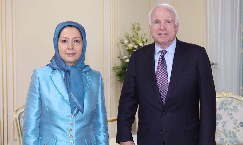 Senator McCain and Maryam Rajavi meet -Senator McCain visits PMOI members in Tirana