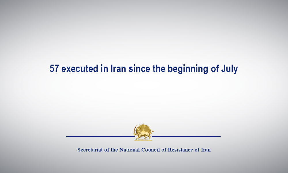57 executed in Iran since the beginning of July