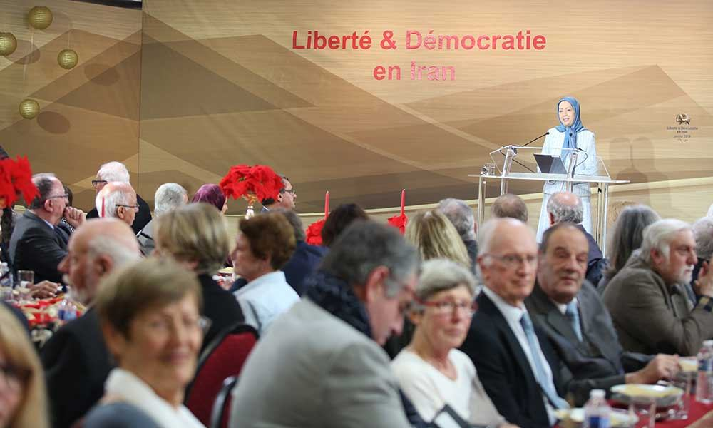 Maryam Rajavi in New Year gathering with French elected officials and supporters of the Iranian Resistance