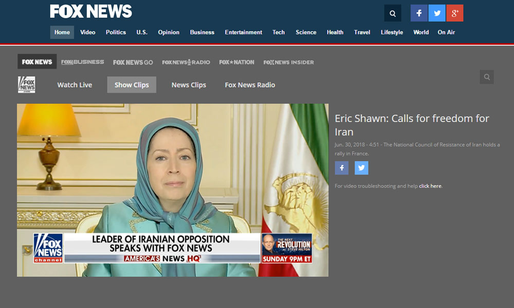 "Fox News: "" Free Iran"" rally held in Paris"