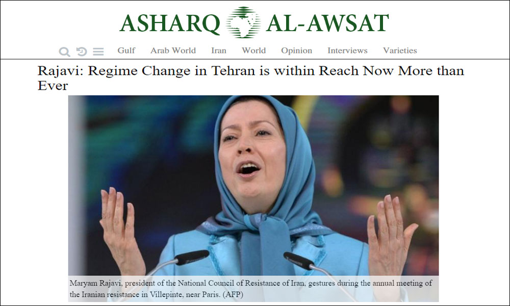 Rajavi: Regime Change in Tehran is within Reach Now More than Ever