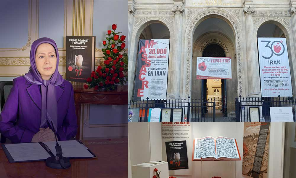 Maryam Rajavi's message to the Exhibition on 1988 massacre in Iran at the Paris District 1 City Hall