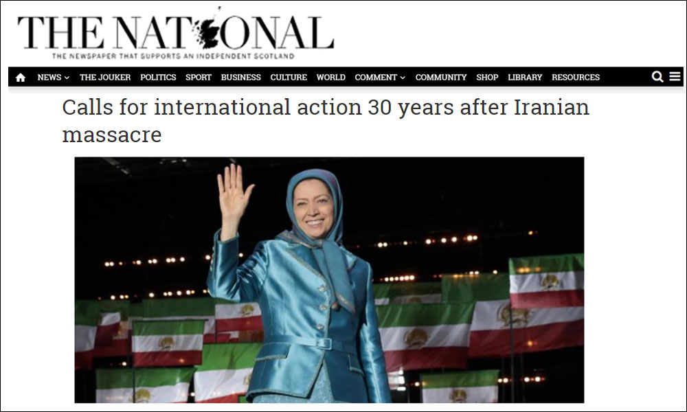 Calls for international action 30 years after Iranian massacre