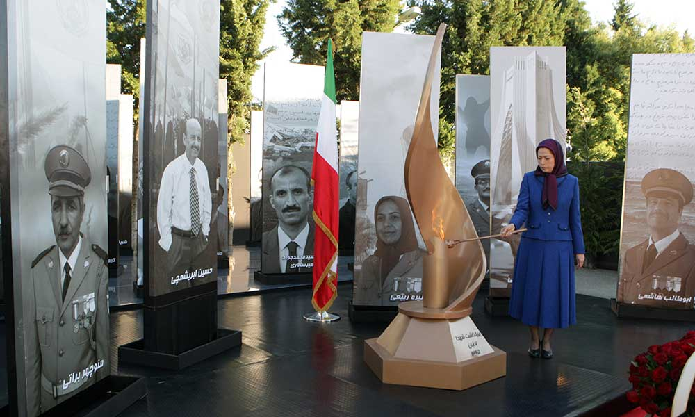 In memory of the 24 PMOI members killed in the rocket attack on Camp Liberty on October 29, 2017