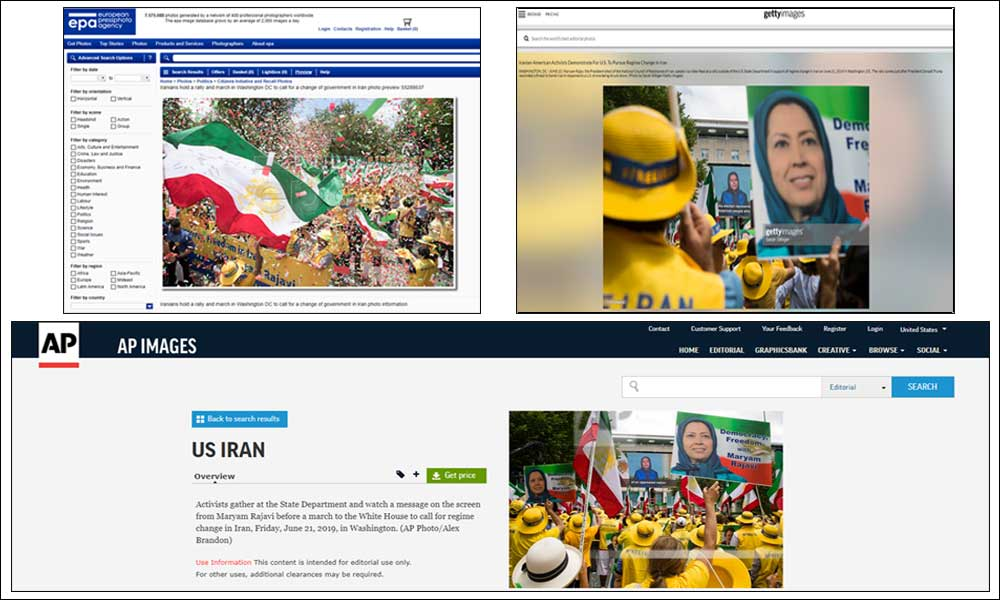 News coverage of Iranian demonstrations in Washington, D.C