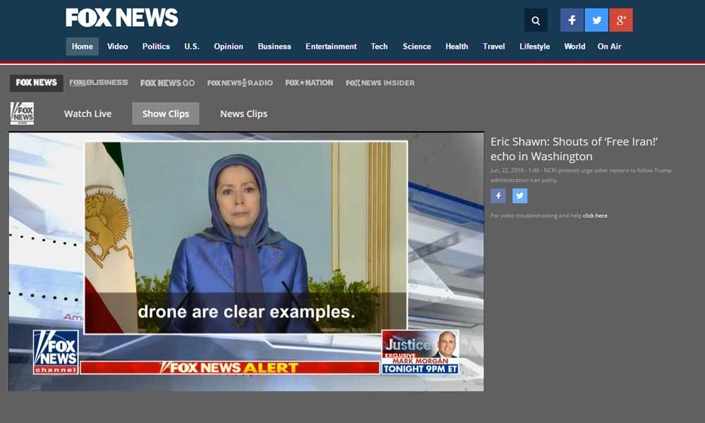 Maryam Rajavi on Fox NEWS: When the mullahs pay no price for their conducts, they become more emboldened and go even further