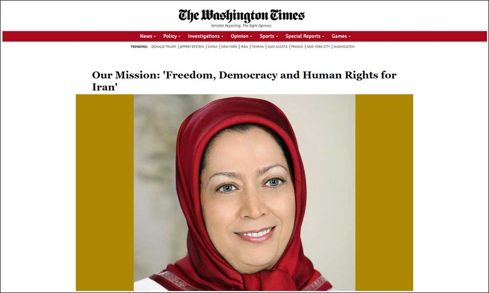 Our Mission: 'Freedom, Democracy and Human Rights for Iran'
