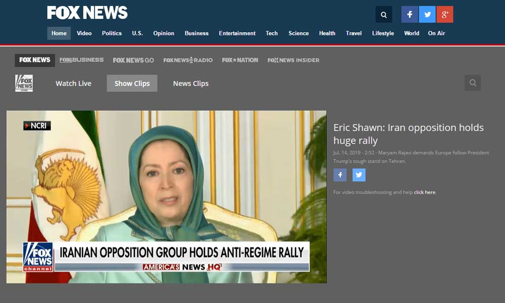 Maryam Rajavi on Fox NEWS: This regime faces an explosive society, an organized resistance movement