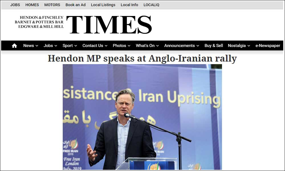Hendon MP speaks at Anglo-Iranian rally