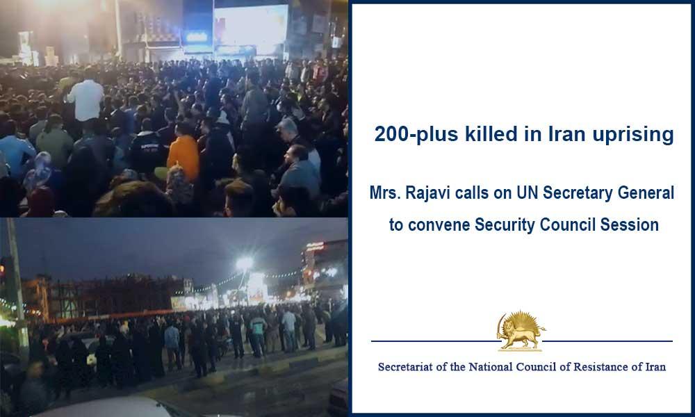 200-plus killed in Iran uprising
