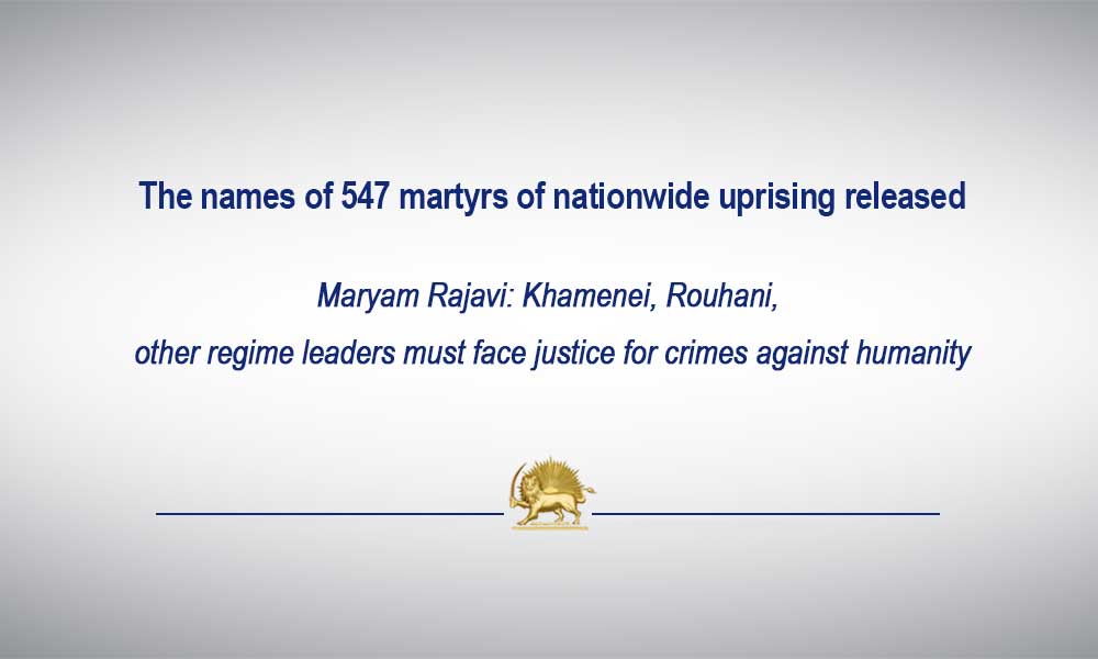 The names of 547 martyrs of nationwide uprising released