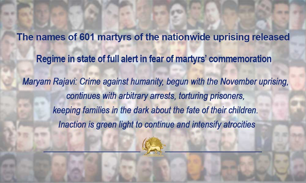 The names of 601 martyrs of the nationwide uprising released