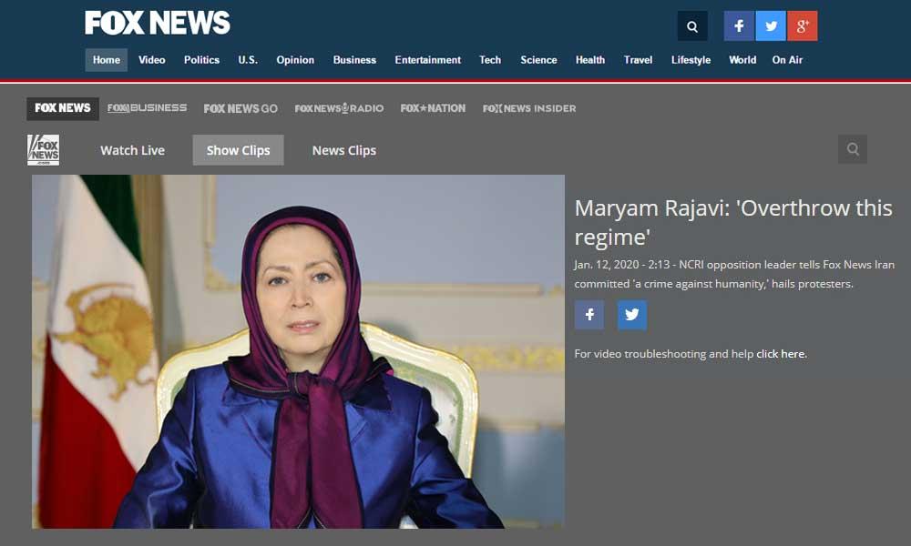 FOX News – Maryam Rajavi's statement on the anti-regime protests in Iran