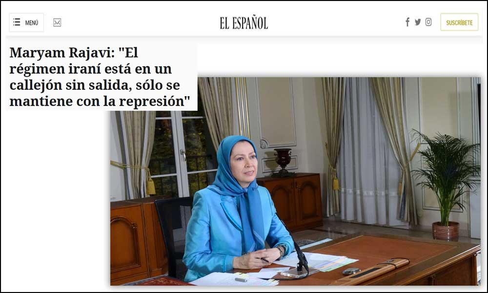 "Maryam Rajavi: ""The Iranian regime is at an impasse, it has preserved itself solely through suppression"""