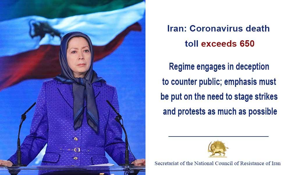 Iran: Coronavirus death toll exceeds 650