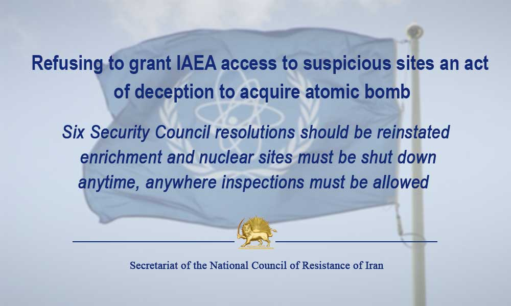 Refusing to grant IAEA access to suspicious sites an act of deception to acquire atomic bomb