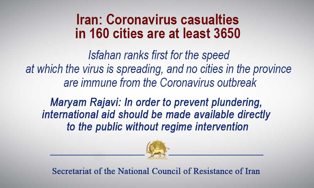 Iran: Coronavirus casualties in 160 cities are at least 3650