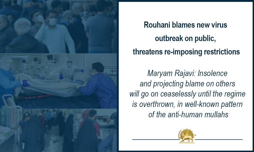 Rouhani blames new virus outbreak on public, threatens re-imposing restrictions