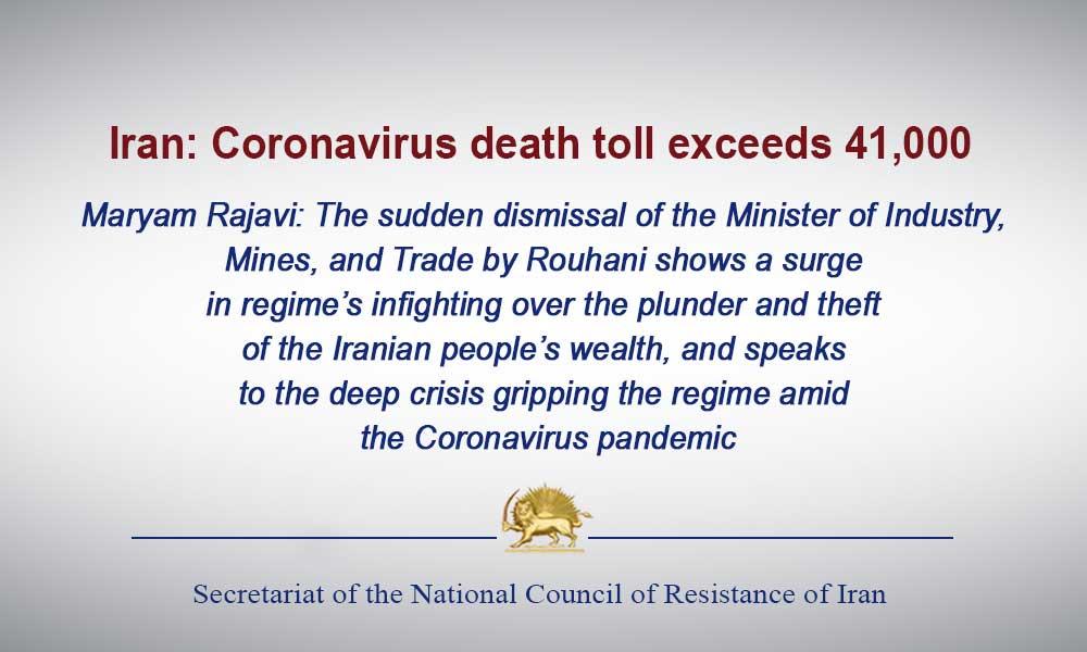 Iran: Coronavirus death toll exceeds 41,000