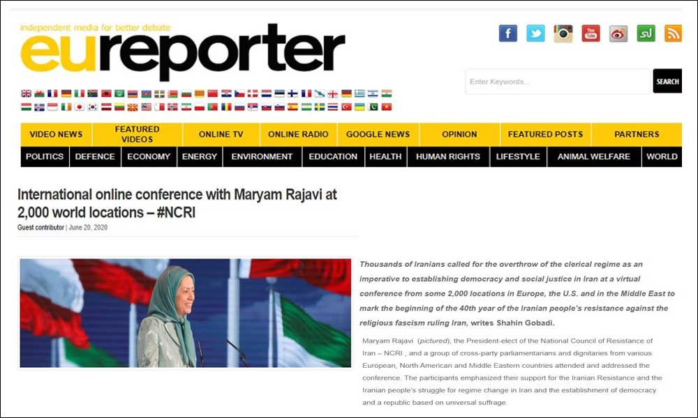 International online conference with Maryam Rajavi at 2,000 world locations – #NCRI
