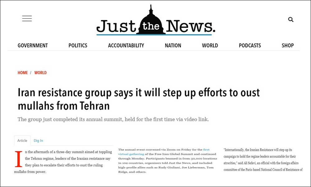 Iran resistance group says it will step up efforts to oust mullahs from Tehran