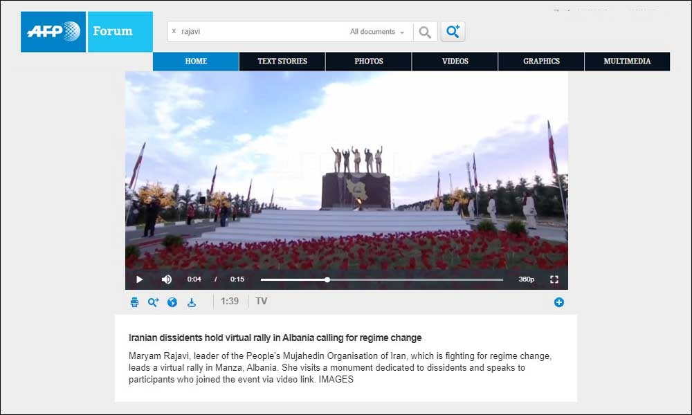 Iranian dissidents hold virtual rally in Albania calling for regime change