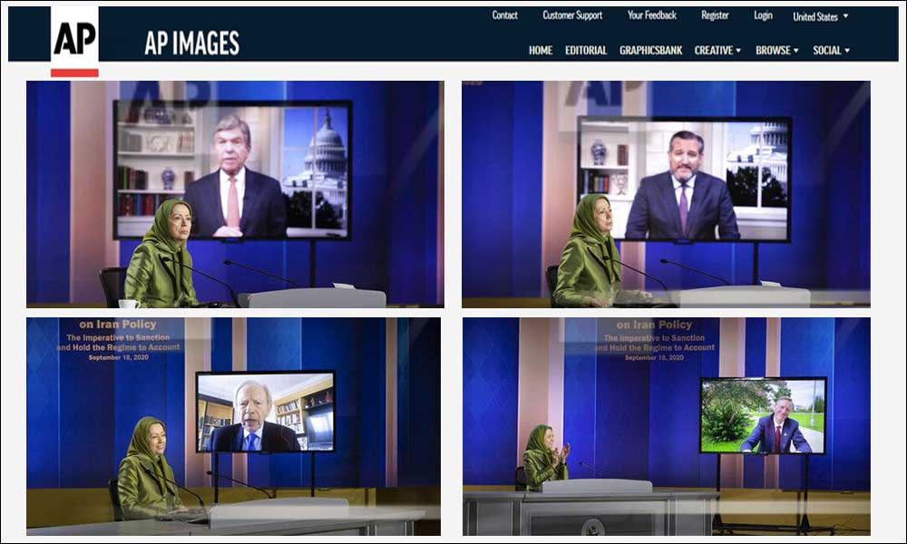 AP Image coverage of the Iran Policy Summit