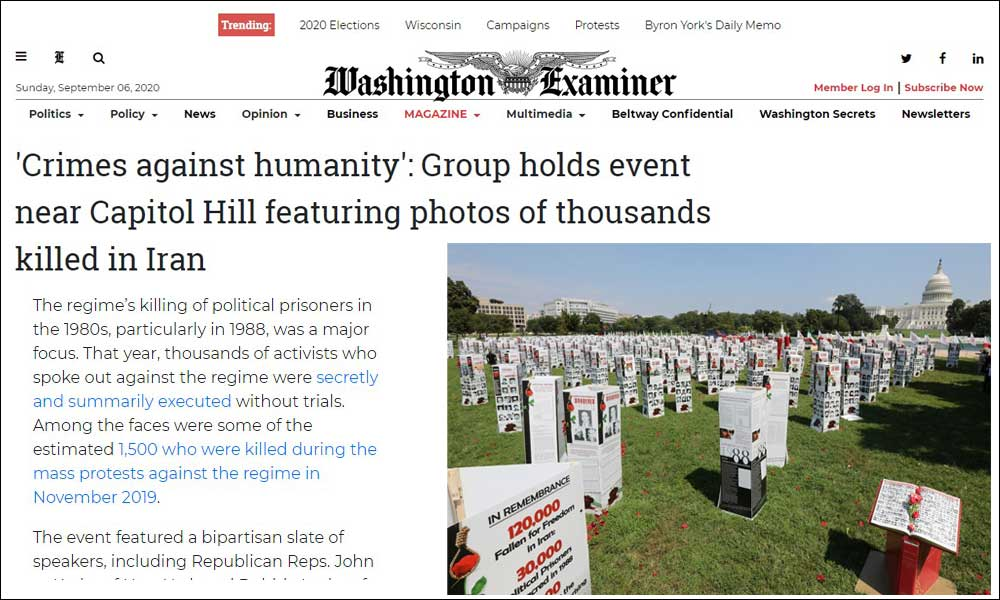 'Crimes against humanity': Group holds event near Capitol Hill featuring photos of thousands killed in Iran