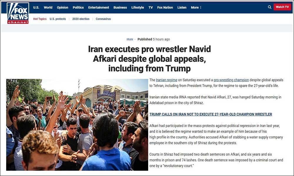 Iran executes pro wrestler Navid Afkari despite global appeals
