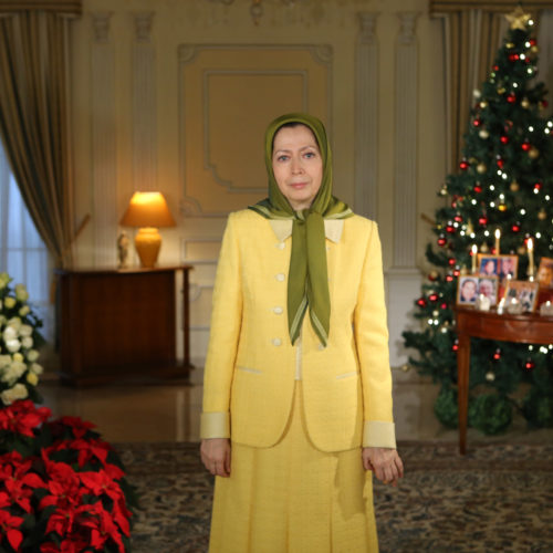 Maryam Rajavi, Christmas and New year 2014 Greetings